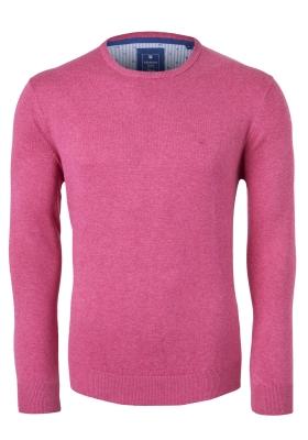Redmond heren trui katoen O-hals, roze