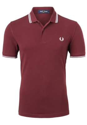 Fred Perry M3600 polo twin tipped shirt, heren polo Port / White / White