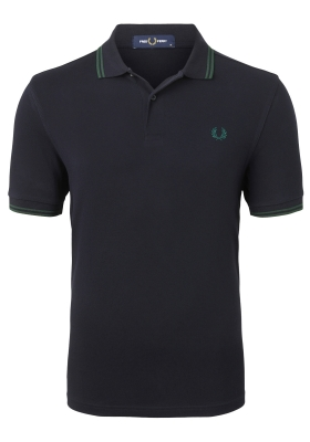 Fred Perry M3600 shirt, polo Navy / Ivy / Ivy