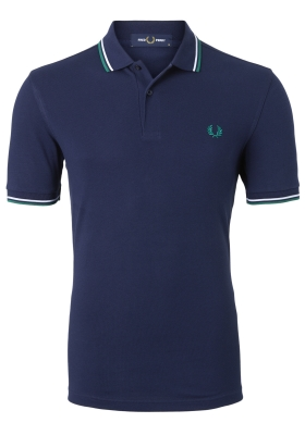Fred Perry M3600 shirt, polo Carbon Blue / White / Raf Green
