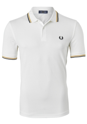 Fred Perry M3600 shirt, polo Snow White / Gold / Black