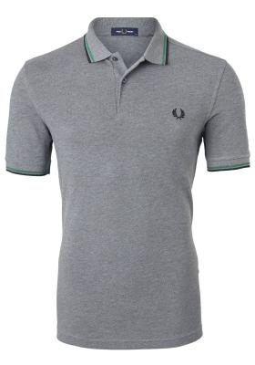 Fred Perry M3600 shirt, polo Grey Marl /Amazon / Black