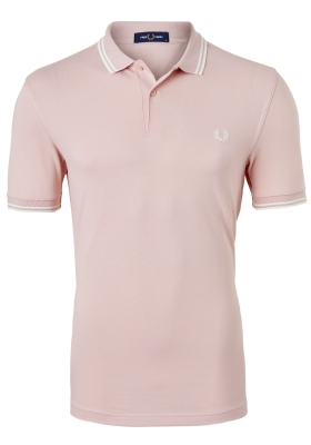 Fred Perry M3600 shirt, polo Silver Pink / Snow White / Snow White