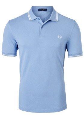 Fred Perry M3600 shirt, polo Sky / Snow White / Snow White