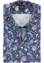 OLYMP Modern Fit, overhemd korte mouw, blauw paisley dessin