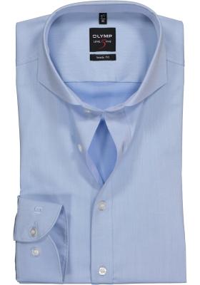 OLYMP Level 5 body fit overhemd, lichtblauw fijn twill