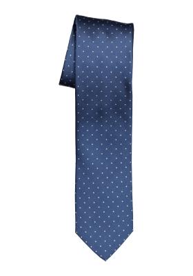 OLYMP smalle stropdas, blauw gestipt