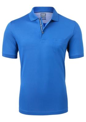 OLYMP modern fit poloshirt, kobalt blauw