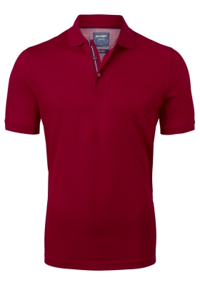 OLYMP modern fit poloshirt, bordeaux rood