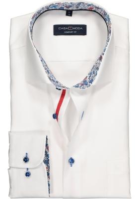 Casa Moda Comfort Fit overhemd, wit (contrast)