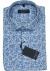 Casa Moda Sport Comfort Fit overhemd korte mouw, blauw met wit dessin (contrast)