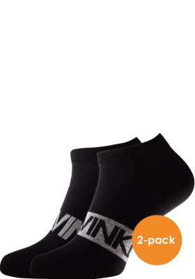Calvin Klein herensokken Dirk (2-pack), enkelsokken, zwart met logo