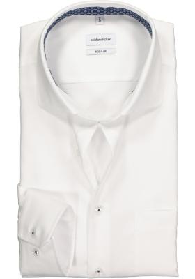 Seidensticker Regular Fit overhemd, wit twill(contrast)