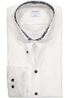 Seidensticker Slim Fit overhemd, wit (contrast)