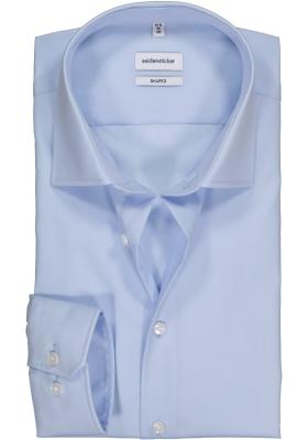 Seidensticker shaped fit overhemd, lichtblauw