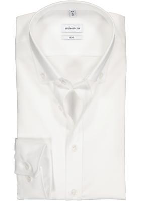 Seidensticker Slim Fit overhemd, wit button-down