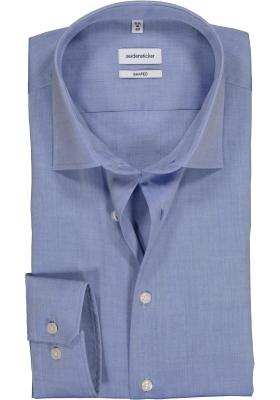 Seidensticker Shaped Fit overhemd, blauw