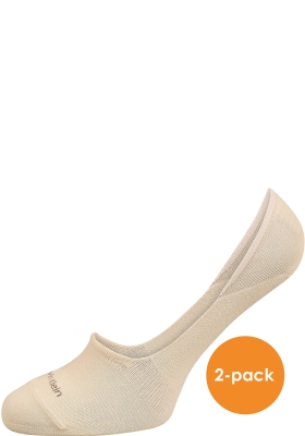 Calvin Klein Luca herensokken (2-pack), onzichtbare sneakersokken beige