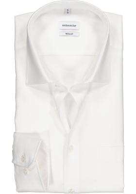Seidensticker regular fit overhemd, wit structuur