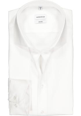 Seidensticker shaped fit overhemd, wit fijn Oxford