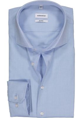 Seidensticker Shaped Fit overhemd, lichtblauw fijn Oxford