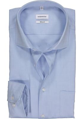 Seidensticker Regular Fit overhemd, lichtblauw fijn Oxford