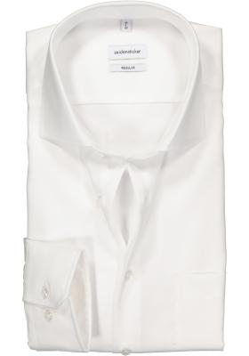 Seidensticker Regular Fit overhemd, wit twill