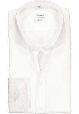 Seidensticker Shaped Fit overhemd, wit twill
