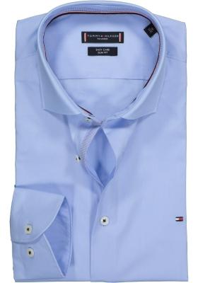 Tommy Hilfiger Poplin Classic Slim Fit overhemd, lichtblauw (contrast)