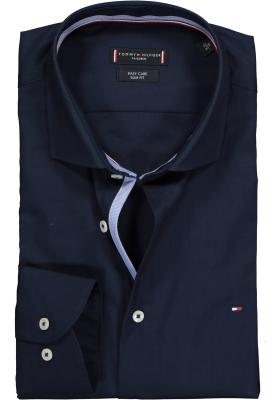 Tommy Hilfiger Poplin Classic Slim Fit overhemd, donkerblauw (contrast)