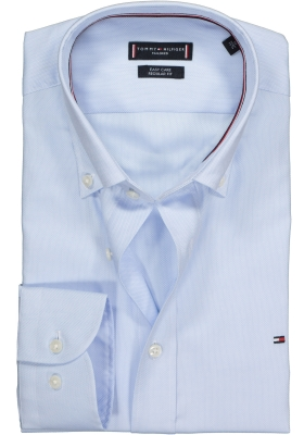 Tommy Hilfiger Dobby Button Down shirt, Regular Fit overhemd, lichtblauw