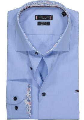 Tommy Hilfiger Poplin Classic shirt, Regular Fit overhemd, blauw