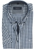 Casa Moda Sport Comfort Fit overhemd korte mouw, blauw-wit geruit met dessin (contrast)