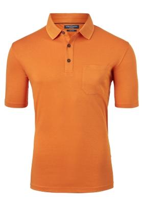 Casa Moda Comfort Fit poloshirt, oranje melange