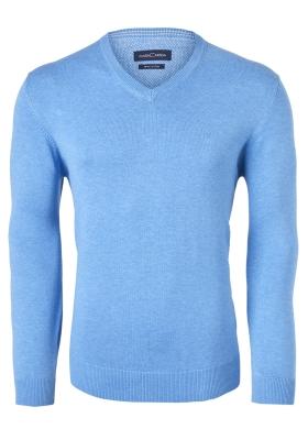 Casa Moda heren trui katoen V-hals, lichtblauw