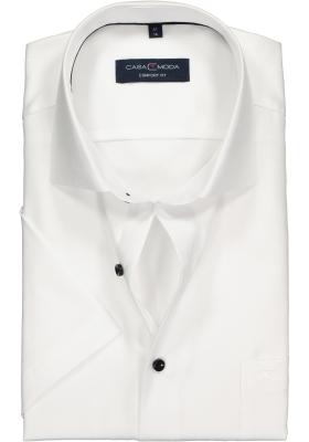 Casa Moda Comfort Fit overhemd korte mouw, wit structuur