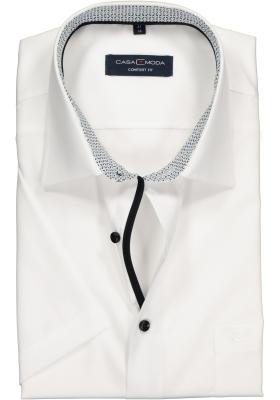 Casa Moda Comfort Fit overhemd korte mouw, wit (contrast)