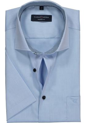 Casa Moda Modern Fit overhemd korte mouwen, lichtblauw (contrast)