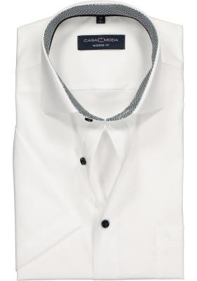 Casa Moda Modern Fit overhemd korte mouwen, wit (contrast)