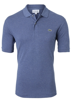 Lacoste Classic Fit polo, blauw met wit melange, medium indigo blue