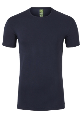 Alan Red stretch T-shirt Bilbao bamboo,  O-hals, blauw