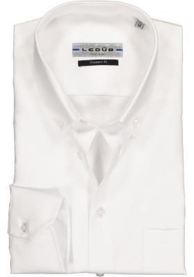 Ledûb Modern Fit overhemd, wit