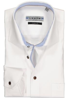 Ledûb Modern Fit overhemd, wit (contrast)