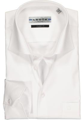 Ledûb Modern Fit overhemd mouwlengte 7, wit
