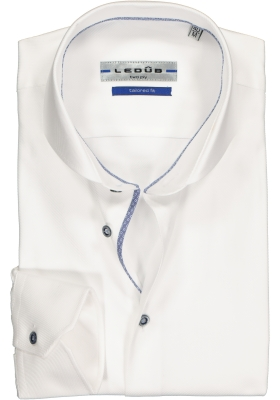 Ledûb Tailored Fit overhemd, wit (contrast)