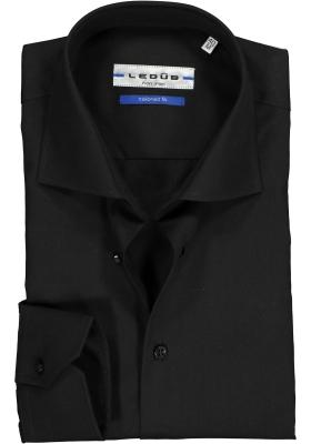 Ledûb Tailored Fit overhemd, zwart