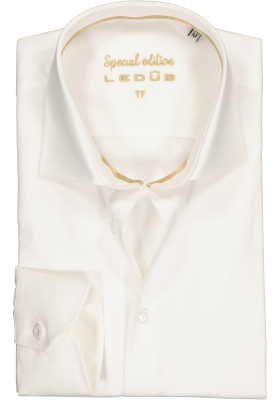 Ledûb Tailored Fit overhemd mouwlengte 7, beige