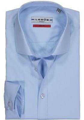 Ledûb Stretch Slim Fit overhemd, blauw