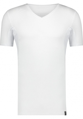 RJ Bodywear Sweatproof T-shirt (1-pack), heren T-shirt met anti-zweet oksels en rug, V-hals, wit