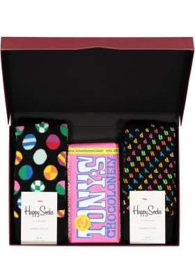 Happy Chocolade cadeauset; Happy pink